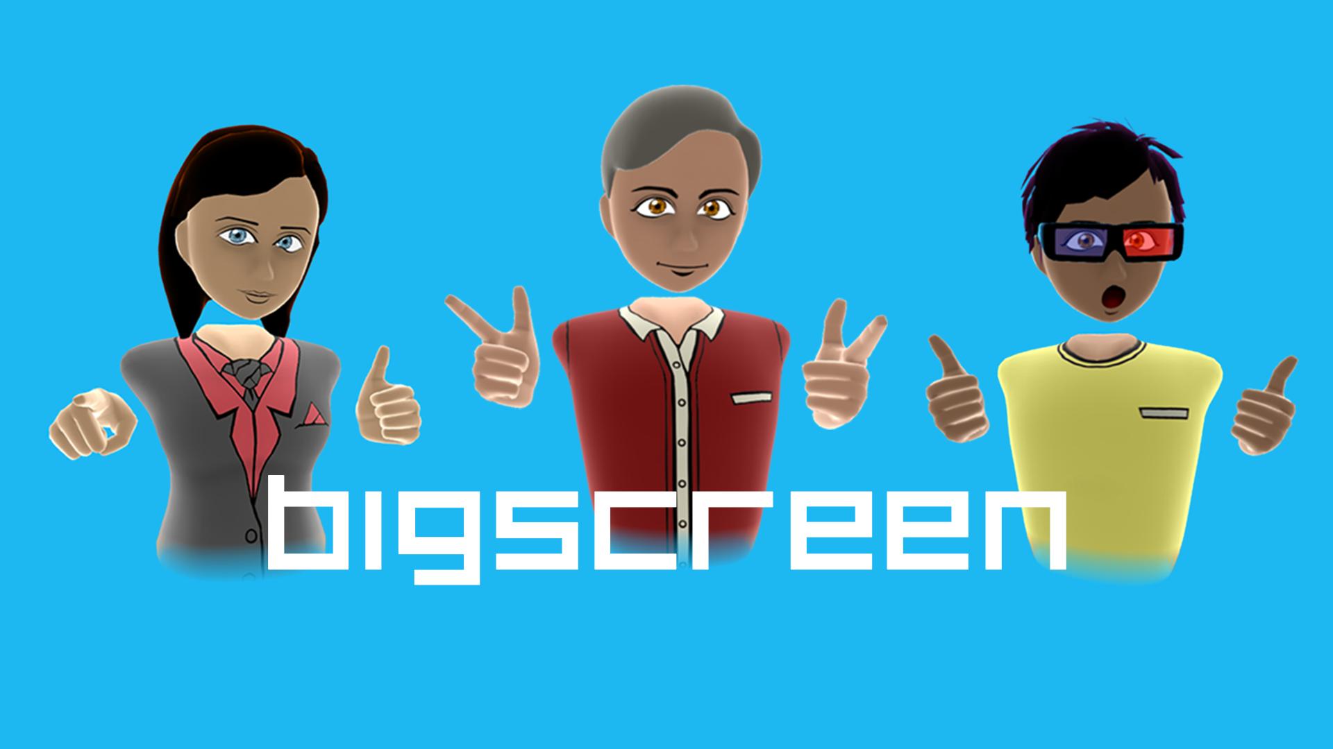 Playing non-VR Steam games | Bigscreen